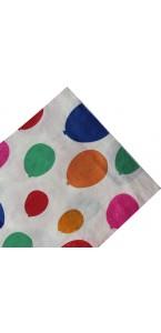 Lot de 20 serviettes jetables  ballons multicolores en papier 33 x 33 cm