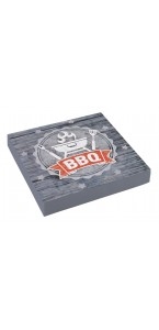 Lot de 20 serviettes jetables en papier BBQ Party33 x 33 cm