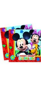 Lot de 20 serviettes jetables en papier Mickey