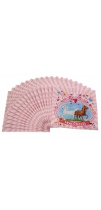 Lot de 20 serviettes jetables Mon cheval