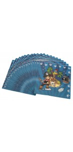 Lot de 20 serviettes jetables Pirate