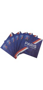 Lot de 20 serviettes jetables PSG 33 x 33 cm