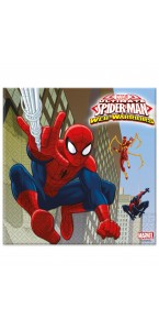 Lot de 20 serviettes jetables Spiderman publishing en papier 33 x 33 cm