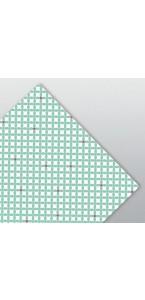 Lot de 20 serviettes jetables Spring aqua 33 x 33 cm ouate