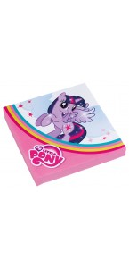 Lot de 20 serviettes Mon petit Poney 33 x 33 cm
