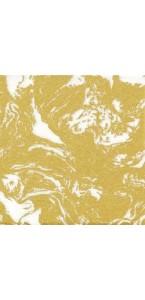 Lot de 20 serviettes  papier intissé marbré or 40 x40 cm