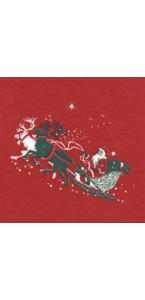 Lot de 20 serviettes  papier intissé Père Noël 25 x 25 cm