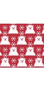 Lot de 20 serviettes  papier intissé Winnie 25 x 25 cm