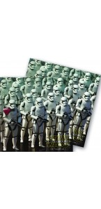 Lot de 20 serviettes Star Wars VII en papier 33 x 33 cm