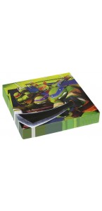 Lot de 20 serviettes Tortue ninja 33x33 cm