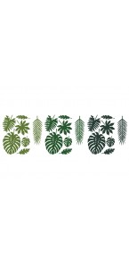 Lot de 21 feuilles Tropicales assorties