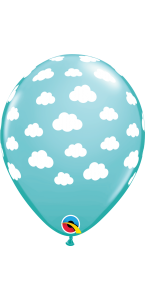 Lot de 25 ballons Bleu Nuage en latex 27 cm