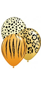 Lot de 25 ballons safaris assortis