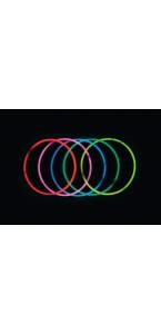 Lot de 25 colliers fluo mix-couleurs 60 cm x 0,5 cm