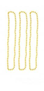 Lot de 3 Colliers de perles jaune fluo
