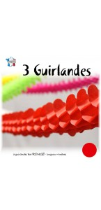Lot de 3 Guirlandes boa rouge 2 m