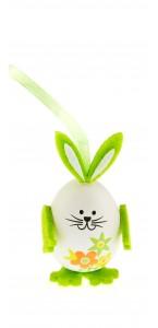 Lot de 3 lapins œuf vert