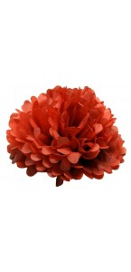 Lot de 3 pompons rouges déco D 30 cm