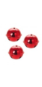 Lot de 3 suspensions grelot rouge