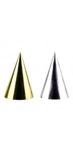 Lot de 4 chapeaux pointus Or/argent