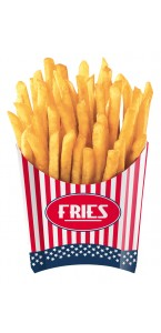 Lot de 4 Cornets pour frites USA Party