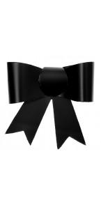 Lot de 4 Nœuds noirs auto-collants en pvc 5 x 4,5 cm