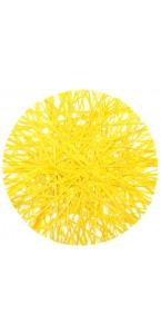 Lot de 4 sets de table en raphia jaune D 34 cm