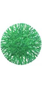 Lot de 4 sets de table en raphia vert D 34 cm