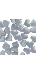 Lot de 40 Coeurs Satin gris 3,5 cm