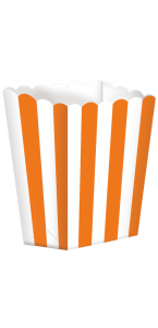 Lot de 5 boîtes Popcorn orange
