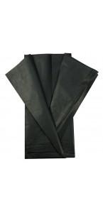 Lot de 5 feuilles papier de soie noir 0,50 x 0,70 cm