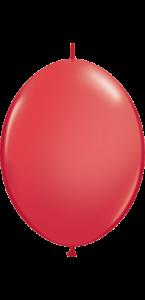 Lot de 50 ballons double attache en latex rouge