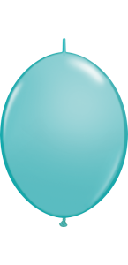 Lot de 50 ballons double attache en latex turquoise