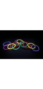Lot de 50 bracelets mix-couleurs  21 cm x 0,5 cm