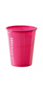 Lot de 50 gobelets jetables en plastique fuschia 20 cl