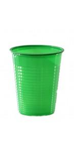 Lot de 50 gobelets jetables en plastique vert 20 cl