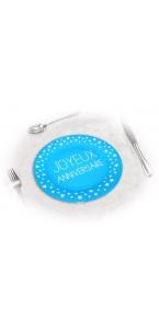 Lot de 6 assiettes anniversaire Bleu Océan D 23 cm