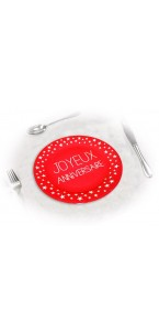 Lot de 6 assiettes anniversaire Rouge passion D 18 cm