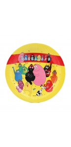 Lot de 6 assiettes jetables Barbapapa