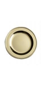 Lot de 6 assiettes rondes jetables Or 23,5 cm