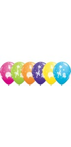 Lot de 6 ballons animaux de la jungle