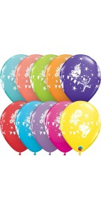 Lot de 6 ballons Circus parade en latex 28 cm