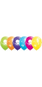 Lot de  6 ballons créatures de la mer