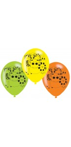 Lot de 6 ballons Jungle en latex 23 cm