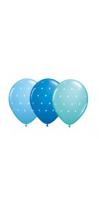 Lot de 6 ballons polka à pois