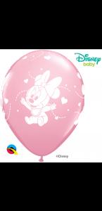 Lot de 6 ballons Rose Bébé Minnie en latex 30 cm