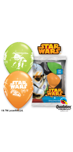 Lot de 6 ballons Star Wars en latex  30 cm