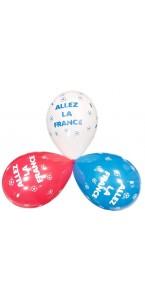 Lot de 6 ballons supporter Allez la France