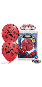 Lot de 6 ballons Ultimate spiderman en latex 30 cm