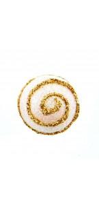 Lot de 6 Boules Gourmandise or pailleté d 4 cm